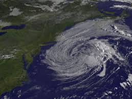 view of post tropical cyclone jose fading