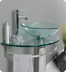 Glass Bathroom Vanity 29 Fresca Attrazione Fvn1060 Modern Glass Bathroom Vanity W