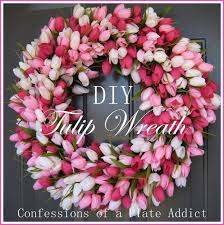 tulip wreath confessions of a plate addict diy tulip wreath