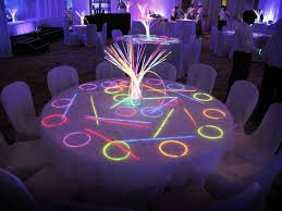 quinceanera decorations for tables quinceanera table decorations photograph neon table