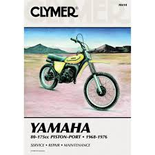 amazon com clymer yamaha 80 175cc piston port 1968 1976