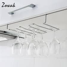 rack hook stemware glass rack wine glass hanger under cabinet