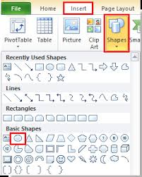 how to circle around a cell in excel