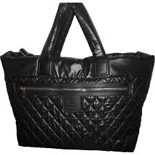 Black polyester chanel travel bag vestiaire collective