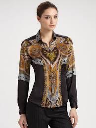 paisley blouse lyst etro silk paisley blouse in black
