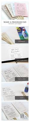 make your own wedding fan programs 112 best diy wedding inspiration images on diy wedding