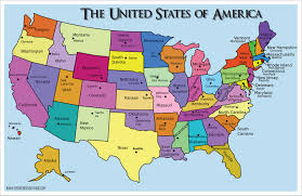 Map Of Countries Map Of The United States Of America With Capitals Emaps World