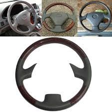 lexus steering wheel logo amazon com grey leather brown wood steering wheel protector cover