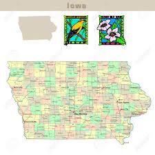 map usa iowa usa states series iowa political map with counties roads