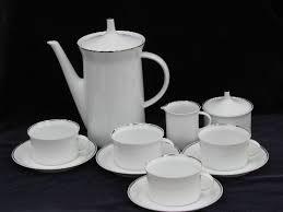 Coffee Set rosenthal platinum band china coffee pot set cups saucers