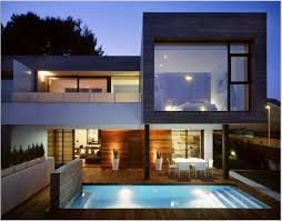 Houses With Big Windows Decor Impressive House Design Inspiration With White Black Brown Wall