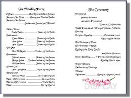wedding program templates wedding program templates from thinkwedding s print your own