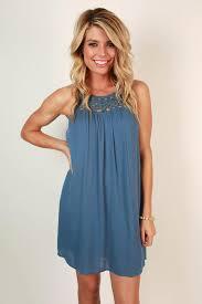 boardwalk stroll crochet shift dress in light slate u2022 impressions