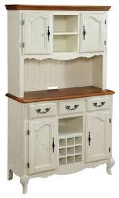 Oak Hutch And Buffet by Oak And Rubbed White Buffet And Hutch Traditional Hutches And