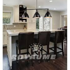 eclairage pour ilot de cuisine luminaire suspendu rectangle en métal bronze anthracite avec
