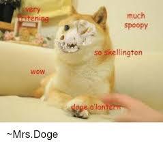 Doge Meme Wow - ten wow much spoopy so skellington mrsdoge doge meme on esmemes com