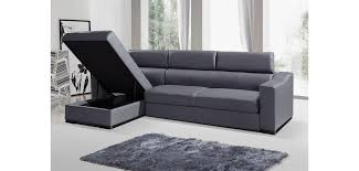 Leather Sectional Sofa Sleeper Ritz Sectional Sofa Bed In Grey Italian Leather