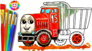 coloring thomas and friends monty dump truck learning and coloring