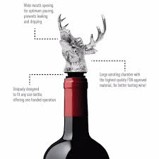 cartoon wine bottle 1 pc zinc alloy deer head wine pourer bottle accessory stopper