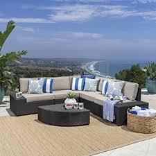 Outdoor Furniture Amazon by Amazon Com Reddington Outdoor Patio Furniture 6 Piece Sectional