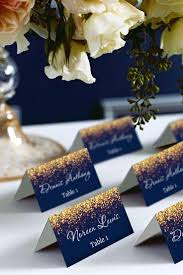 place cards diy gold sparkle and navy wedding place card tents place cards