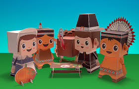 thanksgiving toys thanksgiving paper toys for more paper craft go here macul flickr
