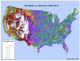 Topographic Map Of The United States by Tornadoes Don U0027t Happen In Mountains Or Do They Debunking The