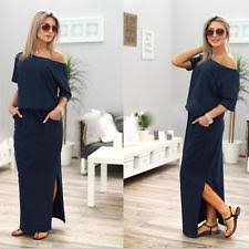 cotton blend short sleeve casual maxi dresses for women ebay