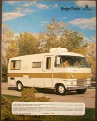 1970 dodge truck motorhome camping dealer sales brochure