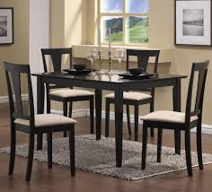 Black Wooden Dining Table And Chairs Dining Tables Awesome Round Curvy Black Wooden Dining Table With