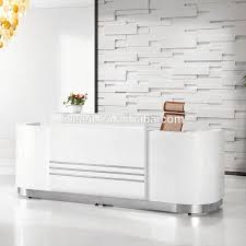 Salon Front Desk Furniture Popular Elegant Design Beauty Salon Furniture Reception Desk White