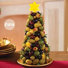 mixed olive appetizer tree for