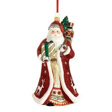 2015 reed barton folklore santa glass blown ornament
