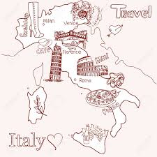 World Map Of Italy by Creative Map Of Italy Royalty Free Cliparts Vectors And Stock