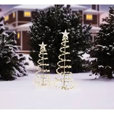 Spiral Light Christmas Tree Outdoor by Holiday Time Lighted Spiral Christmas Tree Sculptures Clear