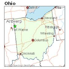 ohio on the map of usa best places to live in antwerp ohio