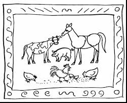 fantastic farm animal coloring pages with farm coloring page