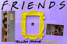 friends tv show peephole frame monica u0027s door youtube