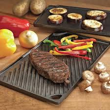 Cast Iron Cooking Amazon Com Lodge Ldp3 Reversible Grill Griddle 9 5 Inch X 16 75