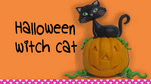 halloween cats how to make a fondant halloween cat figurine cake topper youtube