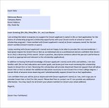letter of recommendation for scholarship u2013 8 free word excel