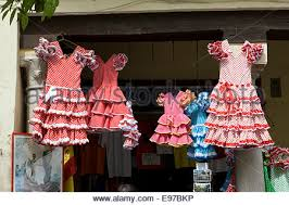 flamenco dress for sale in spain stock photo royalty free image