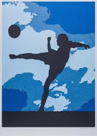 vik muniz the football player pigment print art football