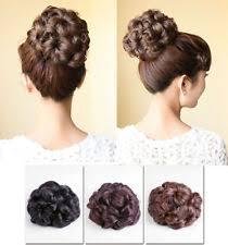 Hochsteckfrisurenen Mit Haarteil by Schwarze Perücken Haarteile Im Haarknoten Dutt Stil Ebay