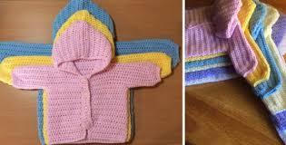 crochet baby sweater pattern three way crocheted baby sweater free pattern tutorial