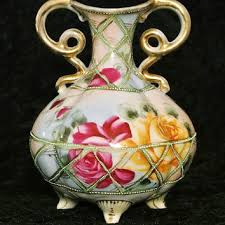 Antique Hand Painted Vases Antique Nippon Vase Urn Hand Painted Vase From Pattysporcelainetc