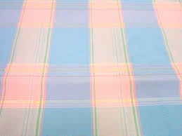 pastel plaid taffeta home decor fabric 1 yd mystery fabric
