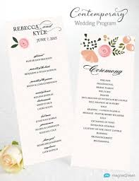 Word Template For Wedding Program Wedding Program Wording Magnetstreet Weddings