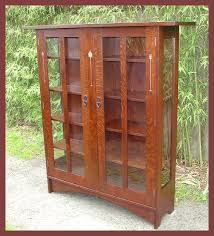mission style china cabinet voorhees craftsman mission oak furniture two door inlaid china cabinet