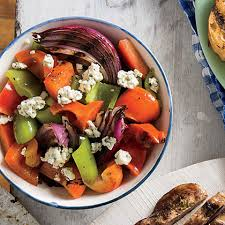 cooking light vegan recipes hearty grilled veggies blue cheese salad grilled peppers and grilling